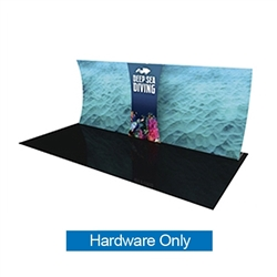 Formulate Backwall Connector 04 Hardware Only. Display products or literature on a Stand-Off Counter designed to complement your Formulate tension fabric display. For use with vertical curved frames only.