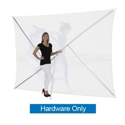 8ft Formulate Lite Backwall Display Hardware Only offers a large format graphic area to get you noticed at your events! This straight trade show fabric display converts from portrait to landscape orientation
