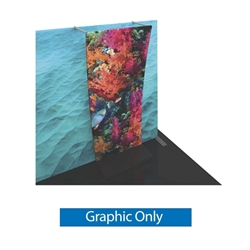 Graphic for Formulate Backwall Accent 08 adds a stunning graphic accent to any tradeshow display. This one-of-a-kind Formulate accessory works with either 10' or 20' backwalls and includes its own frame and pillowcase graphic.