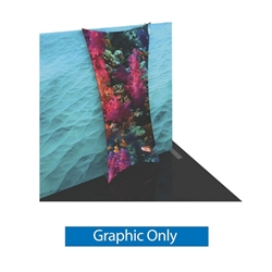 Graphic for Formulate Backwall Accent 09 adds a stunning graphic accent to any tradeshow display. This one-of-a-kind Formulate accessory works with either 10' or 20' backwalls and includes its own frame and pillowcase graphic.