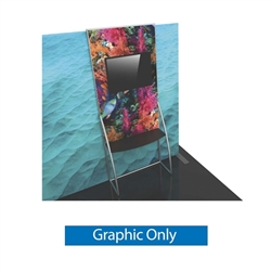 Graphic for Formulate Backwall Accent 10 adds a stunning graphic accent to any tradeshow display. This one-of-a-kind Formulate accessory works with either 10' or 20' backwalls and includes its own frame and pillowcase graphic.