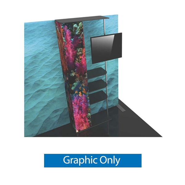 Graphic for Formulate Backwall Accent 12 adds a stunning graphic accent to any tradeshow display. This one-of-a-kind Formulate accessory works with either 10' or 20' backwalls and includes its own frame and pillowcase graphic.