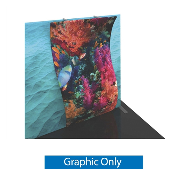 Graphic for Formulate Backwall Accent 13 adds a stunning graphic accent to any tradeshow display. This one-of-a-kind Formulate accessory works with either 10' or 20' backwalls and includes its own frame and pillowcase graphic.