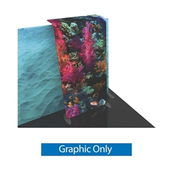 Graphic for Formulate Backwall Accent 14 adds a stunning graphic accent to any tradeshow display. This one-of-a-kind Formulate accessory works with either 10' or 20' backwalls and includes its own frame and pillowcase graphic.