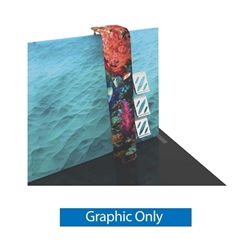 Graphic for Formulate Backwall Accent 15 adds a stunning graphic accent to any tradeshow display. This one-of-a-kind Formulate accessory works with either 10' or 20' backwalls and includes its own frame and pillowcase graphic.