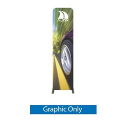 Double-Sided Graphic for Formulate Tension Fabric Essential Banner 600 Straight features a simple straight bungee-corded tube frame and a fabric graphic that simply slips over the frame. Perfect for any environment - from retail to trade show!