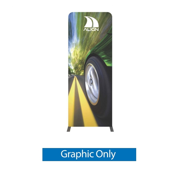 Double-Sided Graphic for Formulate Tension Fabric Essential Banner 920 Straight features a simple straight bungee-corded tube frame and a fabric graphic that simply slips over the frame. Perfect for any environment - from retail to trade show!