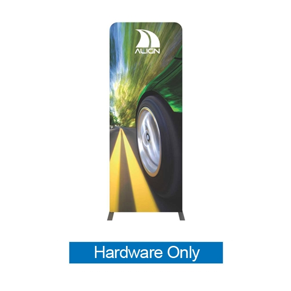 Formulate Tension Fabric Essential Banner 920 Straight Hardware Only features a simple straight bungee-corded tube frame and a fabric graphic that simply slips over the frame. Perfect for any environment - from retail to trade show!