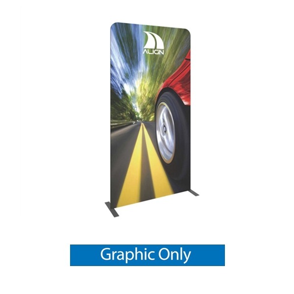 Double-Sided Graphic for Formulate Tension Fabric Essential Banner 1200 Straight features a simple straight bungee-corded tube frame and a fabric graphic that simply slips over the frame. Perfect for any environment - from retail to trade show!