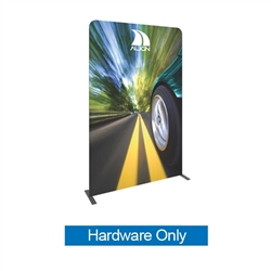 Formulate Tension Fabric Essential Banner 1500 Straight Hardware Only features a simple straight bungee-corded tube frame and a fabric graphic that simply slips over the frame. Perfect for any environment - from retail to trade show!