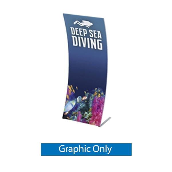 Graphic for Formulate Tension Fabric 3ft Banner Display features a simple straight bungee-corded tube frame and a fabric graphic that simply slips over the frame. Perfect for any environment - from retail to trade show!