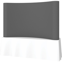 8ft Deluxe Coyote Curved Full Fabric 3x2 Trade Show Tabletop Display Kit - Expanding Portable Tabletop Popup Exhibit. Coyote Table Top Pop UP Fabric Displays proves that table top displays are still a great, compact solution for smaller trade booths.