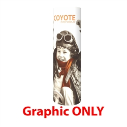 Coyote 3 High Full Graphic Mural Pop Up Tower Trade Show Display offers you the ability to create large circular towers from small, lightweight components. This is an attention-grabbing way to display your graphics, or use the Velcro friendly fabric
