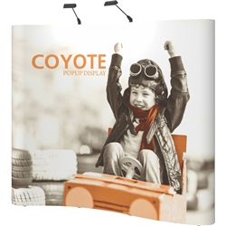 Serpentine Coyote 8ft Full Mural Graphic Fast Kit Display combines strength and reliability with style and ease of use. Named popup because of its small to large pop-up action, this type of display system is still one of the most portable