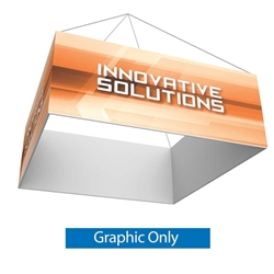 8ft x 2ft Single Sided Fabric. Square Formulate Essential Hanging Banner can be seen from great distances making this sign a great for tradeshow events and in store P.O.P. displays. Square Hanging Signs are an eye-catching way to show off your graphics