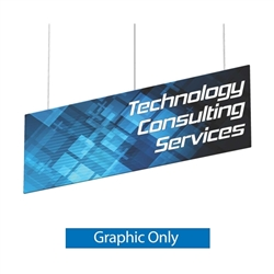 Replacement Single-sided Fabric for 8ft x 2ft Flat Panel Hanging Banner. Formulate Flat Panel Hanging Banner Hardware Only offer a unique looking ceiling banner that when combined with graphics will turn heads in any type of setting!