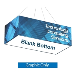 Replacement Fabric with Blank Bottom for 8ft x 4ft x 2ft Rectangle Hanging Banner. Formulate Rectangle Hanging Banner Display offers a simple, 4 sided structure for your graphics and messaging from anywhere on the trade show or event floor floor.