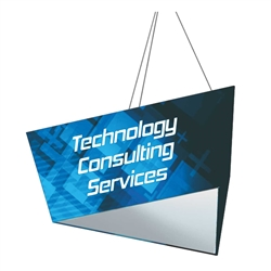 10ft x 2ft Formulate Single-Sided Tapered Triangle Hanging Banner Display offers a simple, 3 side structure for your graphics and messaging from anywhere on the trade show or event floor floor. Triangle Hanging Sign is a great hanging sign solution