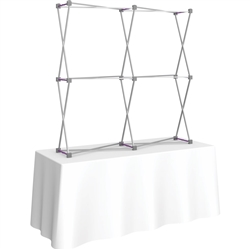 5ft X 5ft Straight HopUp 2x2 Tabletop Fabric Display Hardware Only is a lightweight and versatile trade display solution for users who need an exhibit that sets up in seconds. Portable, Vibrant Table Top Displays