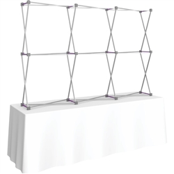 8ft Straight HopUp 3x2 Tabletop Fabric Display Hardware Only is the instant trade show table top solution! Hopup is an all new light weight yet heavy duty frame that suspends a fabric graphic image
