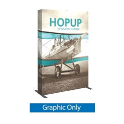 Full Fitted Graphic for 5ft Hopup Floor 2x3 Straight Fabric Display. 5ft Hop Up Back Wall Trade Show Display mixes state-of-the-art design with unmatched convenience. Printed fabric trade show displays, exhibit booths and accessories
