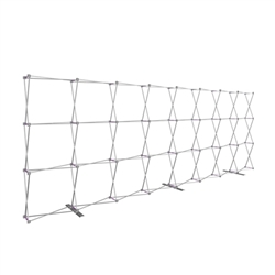 20ft x 8ft Hopup Floor 8x3 Straight Fabric Display Hardware Only is the largest among Hop Up trade displays, making it the perfect way to stand out against the competition.