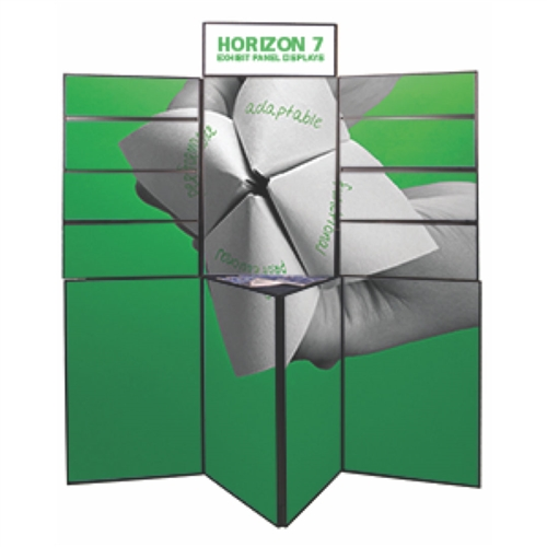 Horizon 7 Folding Display Panel System is a quick to set up, easy to use display system created specifically to hold your custom graphics. Available in several shapes and sizes, you can find the Horizon that is right for you.