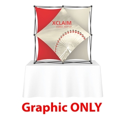 Replacement Fabric for 5ft Xclaim 3-D PopUp Table Top Display Kit 02. Portable tabletop displays and exhibits. Several different styles are available, including pop up frames with stretch fabric or fold up panels with custom graphics.