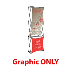 Replacement Fabric for 2.5ft Xclaim 3-D PopUp Table Top Display Kit 02. Portable displays and exhibits. Several different styles are available, including pop up frames with stretch fabric or fold up panels with custom graphics.