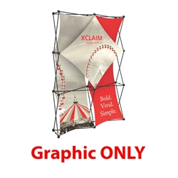 Replacement Fabric for 5ft Xclaim  Full Height Fabric Popup Display Kit 01. Portable displays and exhibits. Several different styles are available, including pop up frames with stretch fabric or fold up panels with