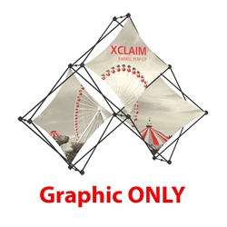 Replacement Fabric for 8ft Xclaim Tabletop 3 Quad Pyramid Fabric Popup Display Kit 01. Portable tabletop displays and exhibits. Several different styles are available, including pop up frames with stretch fabric or fold up panels