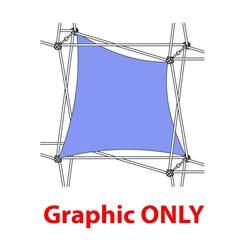 2,5ft Xclaim 1 Quad Double Twist Fabric Popup Display - Graphic Only. Portable displays and exhibits. Several different styles are available, including pop up frames with stretch fabric or fold up panels
