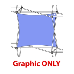 2,5ft Xclaim 1 Quad Horizontal Twist Fabric Popup Display - Graphic Only. Portable displays and exhibits. Several different styles are available, including pop up frames with stretch fabric or fold up panels