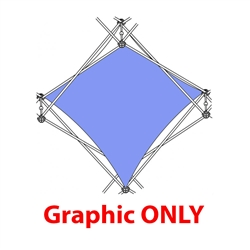 2,5ft Xclaim 1 Quad Pyramid Single Twist Diamond Fabric Popup Display - Graphic Only. Portable displays and exhibits. Several different styles are available, including pop up frames with stretch fabric or fold up panels