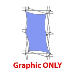 2,5ft Xclaim 1x2 Quad Vertical Thread Fabric Popup Display - Graphic Only. Portable displays and exhibits. Several different styles are available, including pop up frames with stretch fabric or fold up panels