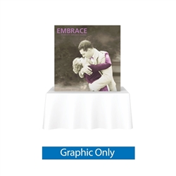 Replacement Fabric for 5ft Embrace Square Tabletop Push-Fit Tension Fabric Display with Front Graphic. Portable tabletop displays and exhibits. Several different styles are available, including pop up frames with stretch fabric or fold up panels