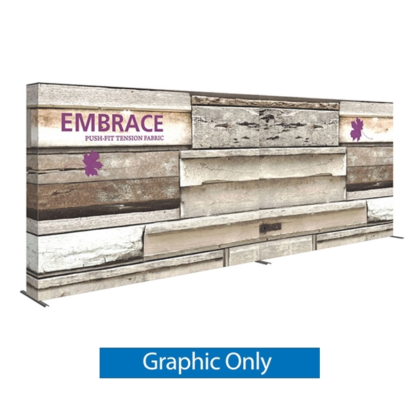 Double-Sided Graphic for 20ft Embrace Full Height Push-fit Tension Fabric Display with Front Graphic. Portable tabletop displays and exhibits. Several different styles are available, including pop up frames with stretch fabric or fold up panels