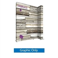 Double-Sided Graphic for 12ft Embrace Wide Stacking Push-Fit Tension Fabric Display with Front Graphic. Portable tabletop displays and exhibits. Several different styles are available, including pop up frames with stretch fabric or fold up panels