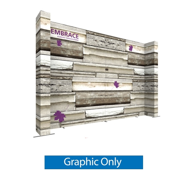 Double-Sided Graphic for 21ft Embrace Wide Quad Stacking Push-Fit Tension Fabric Display with Front Graphic. Portable tabletop displays and exhibits. Several different styles are available, including pop up frames with stretch fabric or fold up panels