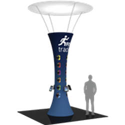 16ft Formulate Funnel Tower Display 10ft Diameter Top are a great way to draw attention and captivate your audience at tradeshows, special events, or in a permanent environments. Formulate funnels have an hourglass shape, come in 20ft, 16ft,12ft heights