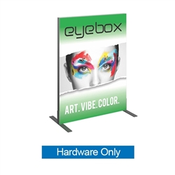 4ft x 3ft Backwall Trade Show Fabric Display Hardware Only. Vector Frame 01-R  ( Backwall Displays) is an indoor aluminum extrusion frame system. Each kit includes extruded aluminum frame, feet, assembly tool, single side dye sublimated fabric graphics