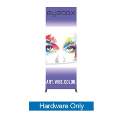3ft x 8ft Vector Frame Light Box Rectangle 06 Hardware Only ( Backwall Displays) is an indoor aluminum extrusion frame system. Get maximum visibility at your next show with a backlit Vector fabric display.