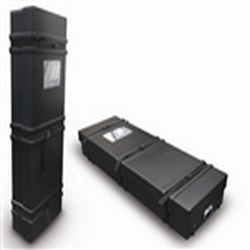 63in x 21in x 9.5in Hard Plastic Shipping & Carrying Cases will protect, secure, transport, organize, store your displays and trade show materials between exhibitions. Shipping cases, makes it extremely easy to transport your trade show accessories