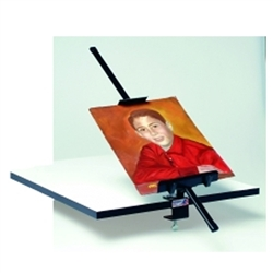 30in Height Testrite Table Mount Easel are used as a vertical, and sometimes horizontal, support to either display finished artworks or to use as an actual working surface. Testrite Table Mount Easel available in a wide range of sizes.