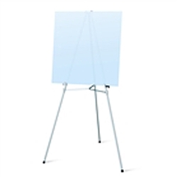 69in Telescopic Aluminum Display Easels. Many different types of artist easels, lightweight aluminum easels, superior strength steel easels. Easels are used as a vertical, and sometimes horizontal. Testrite Display Easels available in wide range of sizes