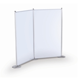 Backwall Privacy Pole Pockets 2 Graphics Holder. The portable, lightweight aluminum base allows quick graphic changes. Great for exhibitor, event and retail environments.Rigid Graphic Holders can hold variety of signage.