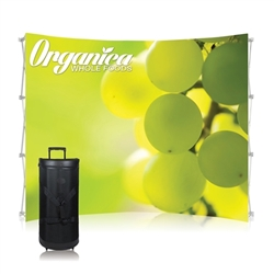 10ft Curved Ready Pop Tension Fabric PopUp Display (Frame & Graphic) No Endcaps. Ready Pop is the FASTEST booth to setup, clocked in at just 2-minutes.10ft Curved Ready Pop Tension Fabric Trade Show display popular curved backwall floor display.