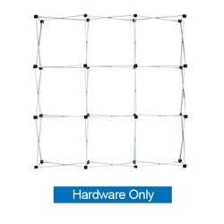 Ready Pop 8ft Straight Single Sided Frame Only. Ready Pop is the FASTEST booth to setup, clocked in at just 2-minutes.8ft Curved Ready Pop Tension Fabric Trade Show display popular curved backwall floor display. High-Quality, Trade Show Displays.