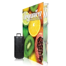 5ft x 7.5ft Ready Pop PopUp Straight Double-Sided Graphic Package No Endcaps Display. Stretch fabric pop up displays for tradeshow booth exhibits.Ready Pop trade show fabric pop-up backwall exhibit booth for your next trade show or event.