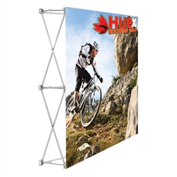5ft x5ft RPL Fabric PopUp Table Top no Endcaps is the alternative display for Our Ready Pop fabric pop-up display. RPL Tension Fabric Pop Up Table Top Display allow exhibitors to travel light and keep costs down for small shows and conferences.